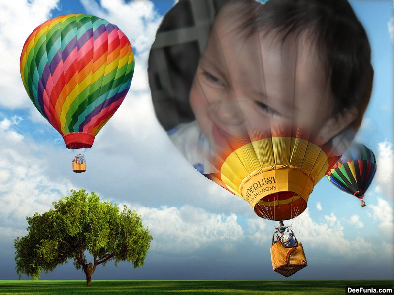 Pega tu foto en globo aerostático