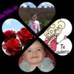 Crea online un collage en forma de corazón