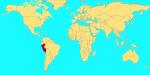Mapa para indicar el país donde naciste