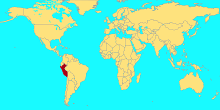 Mapa para indicar el pais donde naciste