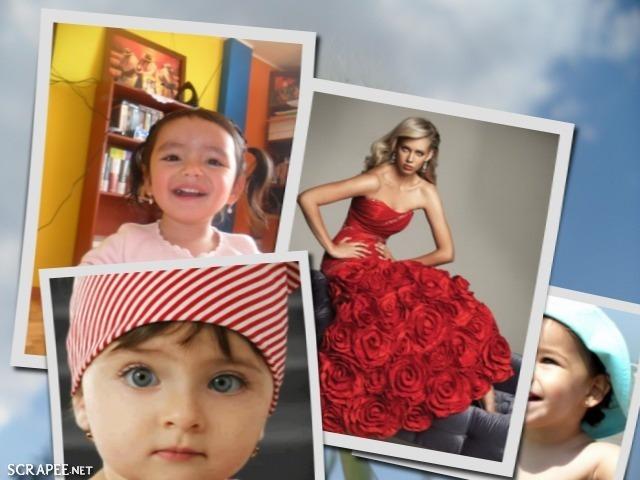 collage para cuatro fotos