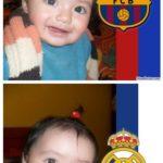 Edita fotos online en el escudo del FC Barcelona y Real Madrid