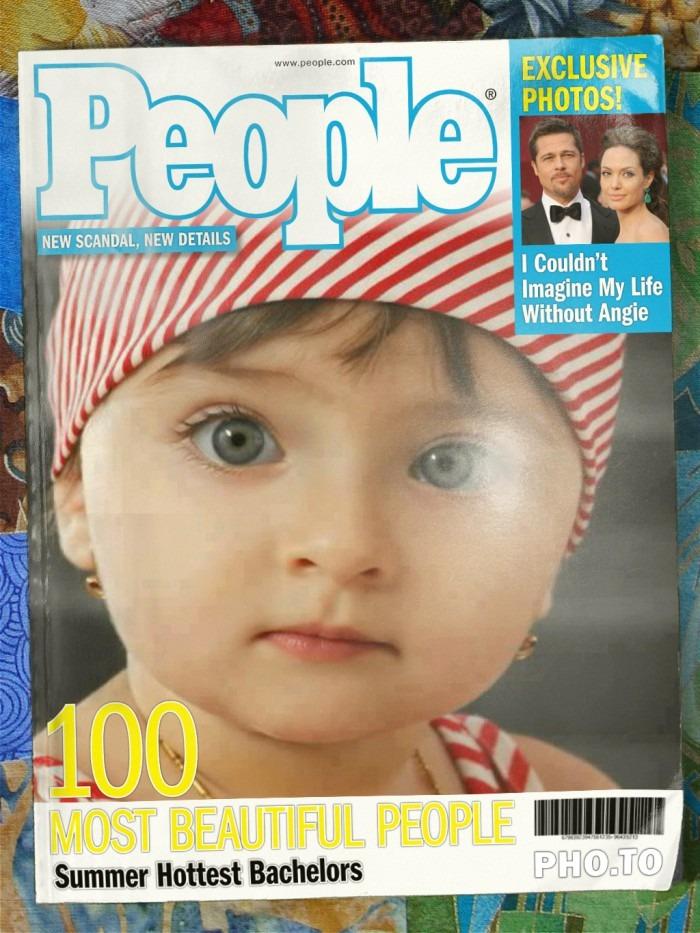 Fotomontaje en portada de revista