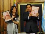 Fotomontajes con los presidentes de Venezuela y Argentina