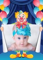 Marco de payaso para fotos cumpleaños