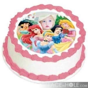Torta para cumpleaños fotomontaje