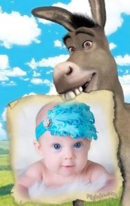 Marco para foto infantil con el burro
