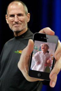 fotomontaje con Steve Jobs