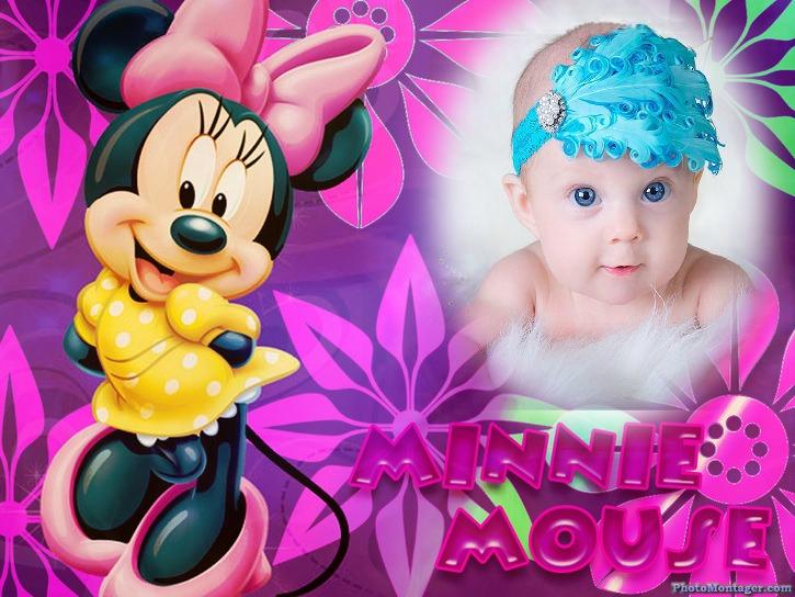 Fotomontaje infantil gratis con Minnie Mouse