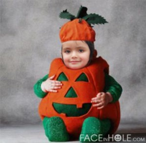 Fotomontaje con disfraz de halloween