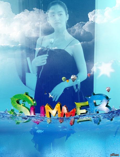 fotomontaje de verano