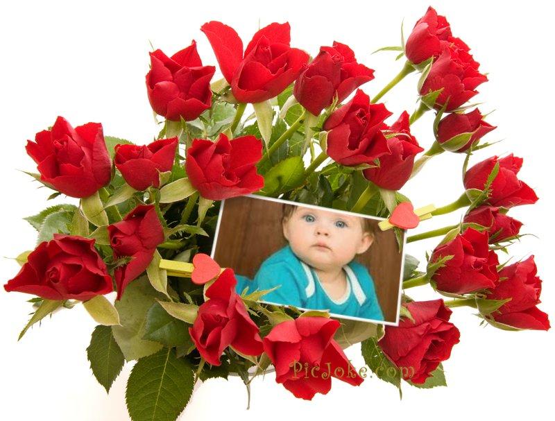Fotomontaje De Amor Con Ramo De Rosas Editar Fotos Online