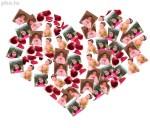 Crea collage de fotos con forma de corazón