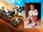 Marco para fotos con motos de carrera