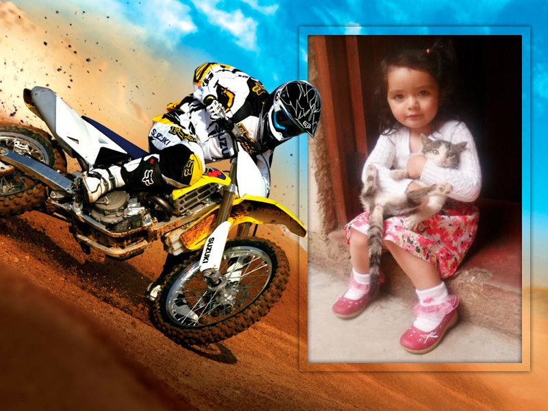 Marco para fotos con motos de carrera   Editar Fotos Online
