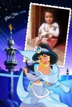 Fotomontaje con la princesa Jasmine