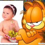 Marco para fotos infantil con Garfield