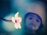 Fotomontaje con una flor gratis