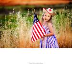 Fotomontaje de rostro con una niña de EE.UU