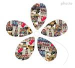 Collage en forma de flor para 60 fotos