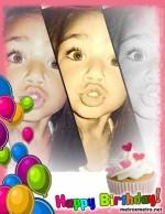 Fotomontaje con globos de cumpleaños