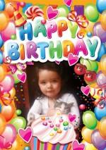 Fotomontaje deseando feliz cumpleaños