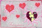 Fotomontaje de felicitación por el Día de San Valentin