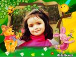 Marco infantil para fotos con Winnie Pooh