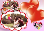 Fotomontaje de amor con Minnie y Mickey Mouse