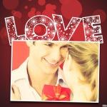 """Marco para fotos con la palabra""""Love"""""""