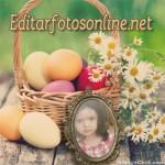 Fotomontaje de Pascua con editor de texto