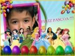 Fotomontaje de Pascua con las princesas de Disney