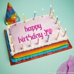 Edita el texto de un pastel de cumpleaños