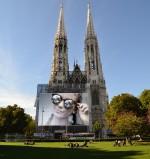 Camina por las ciudades del mundo! Fotomontaje gratis en la iglesia de Viena