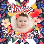 Bello marco de fotos de flores para el Día de la Madre