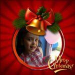Desea una Feliz Navidad con un bello marco de fotos!