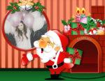 Montaje junto a los regalos navideños de Papá Noel