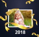 Marco de fotos gratis del año nuevo 2018
